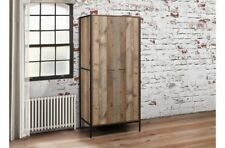 Armoire 2 portes bois métal design industriel avec intérieur étagère de stockage étagère de Unique