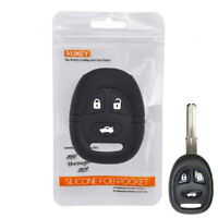 Silicone Remote Key Case For Saab 9-3 9-5 3 Button Fob Shell Cover