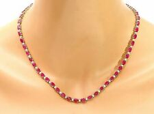 30.75 Natural Ruby 14K Solid Yellow Gold Diamond Luxury Pendant Necklace