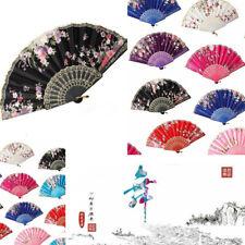 Spanish Lace Silk Fabric Folding Dance Fan Flower Pattern Bride Gift Hand Held