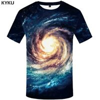 Galaxy Planet Animal 3D Printed Women Men Crew Graphics T-Shirts Casual Tee Tops