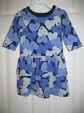 NWT Baby Girls Joe Fresh Long Sleeve Purple Heart Shaped Ruffled dress sz 3