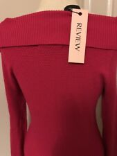 REVIEW JUMPER.....RASPBERRY.....(SIZE 10)....BNWT.