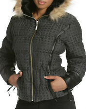 NWT ROCAWEAR Belted  FEATHER ,DOWN , LEATHER,  FUR COAT WINTER L