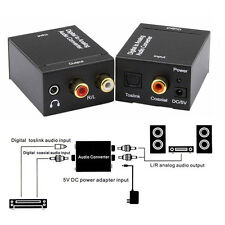 Optical SPDIF Toslink Digital to Analog Audio Converter Adapter RCA 1M Cable ss
