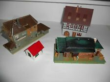 Vollmer, Faller & Tyco model buildings. Assembled. HO Scale. Good overall cond