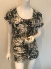 Next Ruched/Gather Side Pattern Top/T-Shirt Size 8