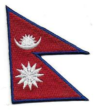 Embroidered Nepal Flag Iron on Sew on Patch Badge HIGH QUALITY APPLIQUE