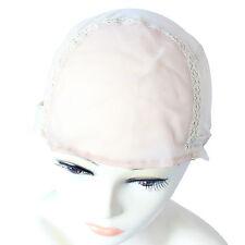 Wig Cap for Wig Weaving Stretchy Net + Straps Thin Skin Size Medium M Beige Q19