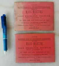 More details for pair of 1897 northern union of conservative associations mass meeting tickets