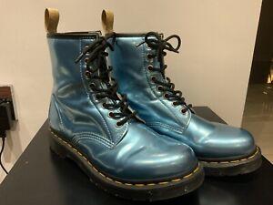 1460 Blue Vegan Dr Martens Boots Uk Size 6