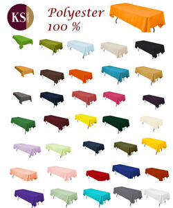 """High Quality 54"""" x 120"""" Rectangular Tablecloths  (available multiple colors)"""