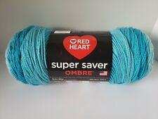 Red Heart Super Saver BLUE Ombre Yarn Color SCUBA *NEW*