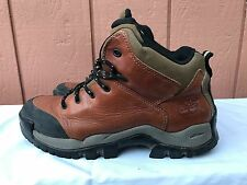 Timberland Mens Brown Black Leather Boots Man made Lining Sole US Size 9 M