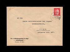 WWII Germany Latvia Occupation Ostland Ovpt Hitler Kommissar Riga 1942 Cover 6q