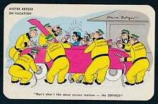 MISTER BREGER ON VACATION ARTIST SIGNED DAVE BREGER 89368 VINTAGE POSTCARD
