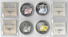 NETHERLANDS 4 BU MEDALS 20-25-50-100 GULDEN 2001 With COA in Capsules 50mm 54g.