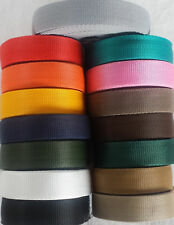 32mm MM  POLYPROPYLENE WEBBING STRAPPING, BAGS, STRAPS, WEAVE Colors