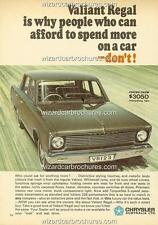 1967 CHRYSLER VALIANT VC REGAL A3 POSTER AD SALES BROCHURE ADVERTISEMENT ADVERT