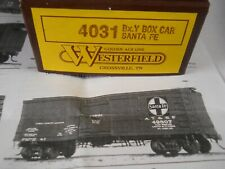 NIB WESTERFIELD MODELS KIT 4031 Bx-Y BOX CAR SANTA FE