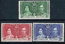 FALKLAND ISLANDS 1937 SG143-45 CORONATION MNH