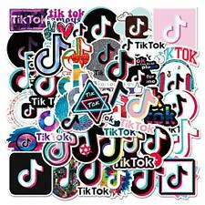 4-Pack TikTok Stickers(50 each) waterproof, for Decoration, Stockings, parties,