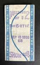 Vintage 'Aqueduct Racetrack' New York - Horse Racing Betting Ticket - Sept. 1966