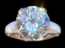 4 ct Extra Brilliant Pave Ring Top Russian Quality CZ Moissanite Simulant Size 9