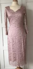 DAMSEL IN A DRESS, Pale Pink Lace Dress, Size 10, NEVER WORN RRP £159