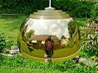 Mid Century Louvered Lightolier ERA Dome GOLD TONE Pendant MODERN Light Lamp