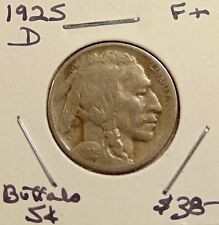 1925-D Buffalo Nickel - Better Date - Nice Looking Coin - FREE SHIPPING