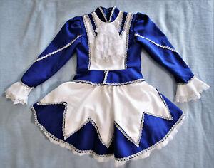 Karnevalskostüm für Mädchen blauweiss - Gr.140 - Funkenmariechen - Tanzmariechen