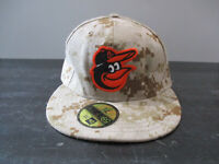 New Era Baltimore Orioles Hat Cap Fitted Size 7 3/8 Brown Camo Camoflauge Mens