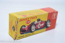 DINKY TOYS 242 FERRARI RACING CAR EXCELLENT EMPTY ORIGINAL BOX