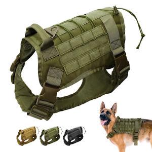 Strong No Pull Training Dog Harness Molle Walking Vest Large German Shepherd