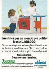 X2000 Lavatrice - Stendibiancheria - Chicco - Pubblicità del 1991 - Vintage ad