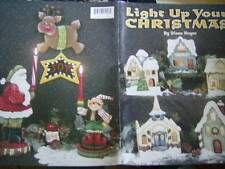 Light Up Your Christmas Painting Book Village Buildings, Santas, Girl, Elf, Snow