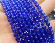 "6mm Blue Sapphire Gemstone Round Loose Beads 15"""