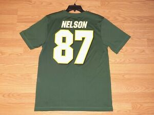 GREEN BAY PACKERS JORDY NELSON #87 SHIRT SIZE MEDIUM NEW WITHOUT TAG DOUBLE SIDE