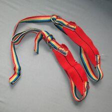Vintage Ice Tool leashes, rainbow, adjustable climbing lead ice tool holder
