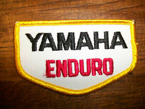 Yamaha Enduro patch Vintage Embroidered 1970s NOS Cross Country Dirt offroad