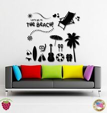 Wall Stickers Vinyl Decal The Beach Ocean Vactaion Travel Summer (z1762)