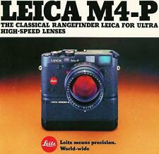 LEICA M4-P RANGEFINDER CAMERA BROCHURE--M4P--from 1984