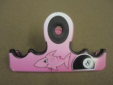 Cue It Up Series 4 Cue Holder Pink Shark Pink Clip Pool Billiards FREE Shipping