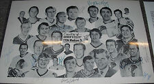 1970-71 Chicago Blackhawks Team Signed 11x17 Photo RARE Photo Bobby Hull JSA LOA