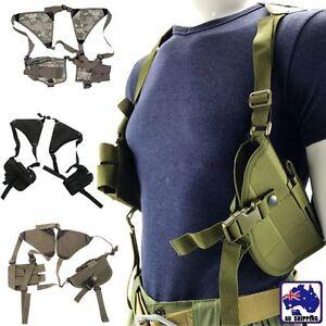 Gun Armpit Holster Pouch Bag Rig Horizontal Shoulder Pistol Holder CSBA266