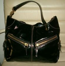 Dooney and Bourke Cinzia Black Patent Leather Hobo Bag