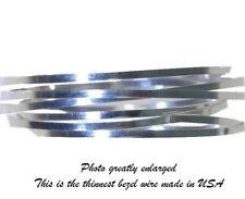 NEW Bezel Wire Cloisonne Strip .999 Fine Silver Flat .040 X .010 Qty=24 Inches