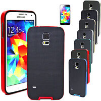 Shockproof Thin Slim Rubber PC Bumper Case Cover For Samsung Galaxy S5 i9600