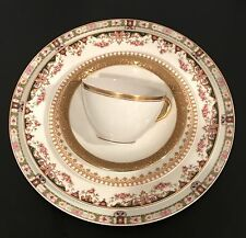 5 pc Vintage Mismatched Fine China Place setting Dinnerware Floral Gold Mixed